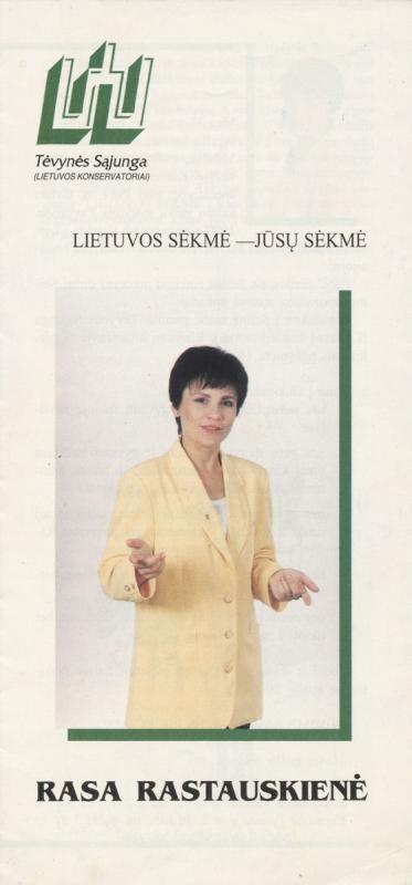 Rasa Rastauskienė (dabar Juknevičienė) Lietuvos konservatoriai